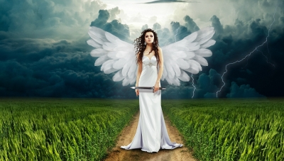 Angel-in-field-with-white-dress
